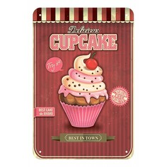 Панно (20x30 см) Cupcakes TM-113-122 Ekoramka