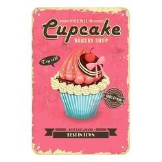 Панно (20x30 см) Cupcakes TM-113-121 Ekoramka