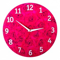 Настенные часы (30x30 см) Розы KD-038-040 Дубравия