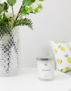 Свеча с ароматом хлопка Candlelight-Белый