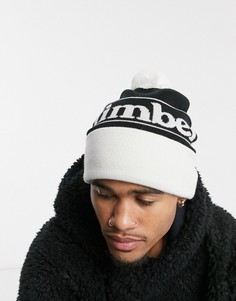 Черная шапка с логотипом Timberland-Черный