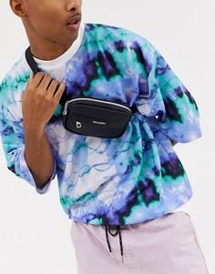 Черная маленькая сумка-кошелек через плечо из искусственной кожи ASOS DESIGN-Черный