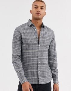 Серая рубашка в клетку Celio-Серый