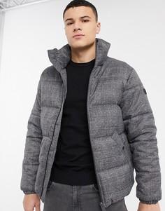 Серая дутая куртка Esprit-Серый