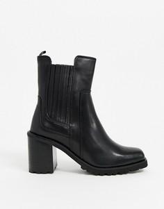 Черные кожаные ботинки челси на массивной подошве ALDO-Черный