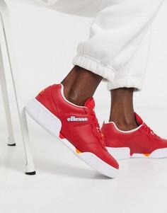 Красно-белые кожаные кроссовки ellesse Piacentino-Красный