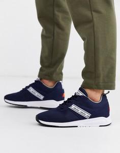 Темно-синие кроссовки с красными вставками Ellesse Мenfi-Темно-синий