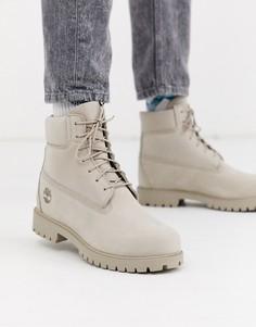 Премиум-ботинки из нубука Timberland 6-Бежевый