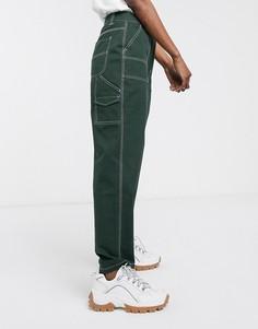 Прямые брюки ASOS DESIGN-Зеленый