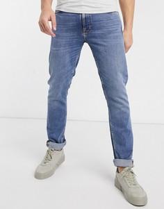 Суженные книзу узкие джинсы Nudie Jeans-Синий