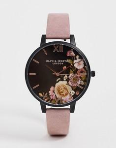 Наручные часы с замшевым ремешком Olivia Burton-Розовый