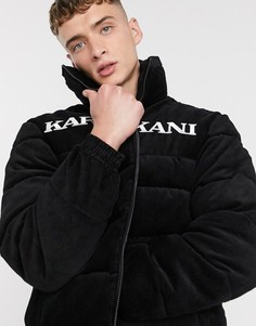 Черная дутая вельветовая куртка Karl Kani-Черный