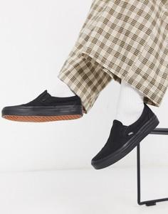 Черные кроссовки-слипоны Vans Classic-Черный