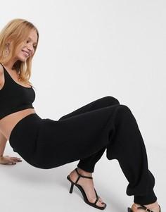 Черные трикотажные джоггеры от комплекта Selected Femme-Черный