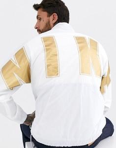 Белая ветровка с логотипом Nike-Белый