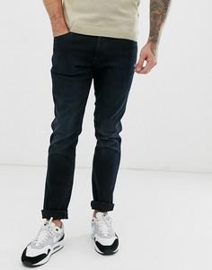 Черные суженные книзу джинсы слим Wrangler Larston-Черный