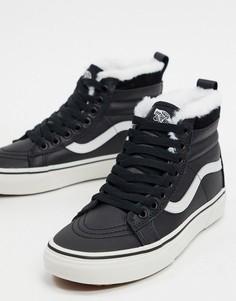 Черно-белые кожаные кроссовки Vans SK8-Hi MTE-Черный