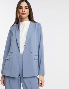 Голубой пиджак от комплекта Y.A.S-Светло-бежевый
