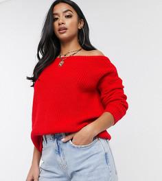 Красный джемпер с открытыми плечами Missguided Petite