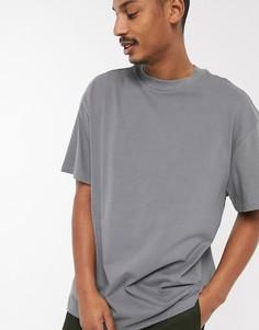 Серая футболка Weekday-Серый