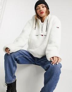 Худи с молнией Tommy Jeans-Белый