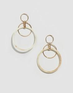 Золотистые серьги-кольца Glamorous-Золотой