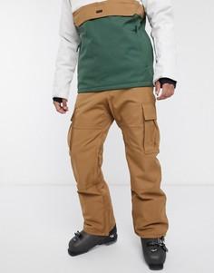 Коричневые лыжные брюки Billabong-Коричневый