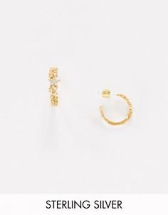Серебряные серьги-кольца в стиле хагги с позолотой 18 карат Astrid & Miyu