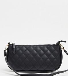 Черная стеганая сумка на плечо в стиле 90-х My Accessories London-Черный
