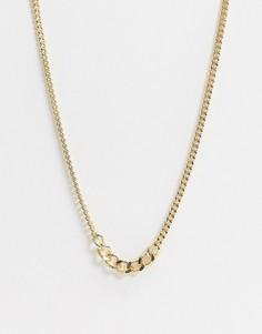 Золотистое ожерелье из цепочки с разными звеньями Pieces-Золотой