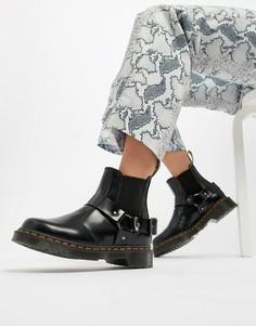 Черные кожаные ботинки челси на массивной подошве с ремешками Dr Martens Wincox-Черный