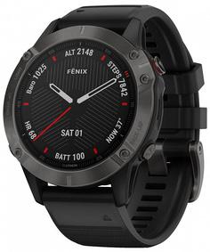 Спортивные часы Garmin Fenix 6 Sapphire (черный, серый)