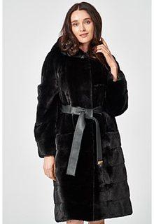 Шуба из аукционного меха норки NAFA с капюшоном Nevris Furs