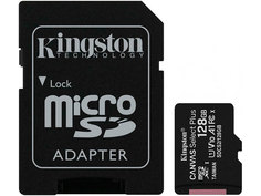 Карта памяти 128Gb - Kingston Micro Secure Digital HC Class10 UHS-I Canvas Select SDCS2/128GB с переходником под SD
