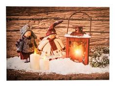 Светящееся украшение Koopman International Панно Фонарь и куклы ANB000010-1