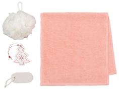 Набор Этель Snow - полотенце 30х60cm + банные аксессуары 4471694