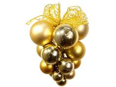Украшение SnowHouse Подвеска с зеркальными и матовыми шарами Gold CB1-SM30GL