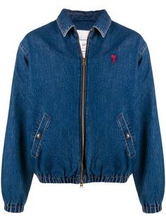 AMI джинсовая куртка с логотипом