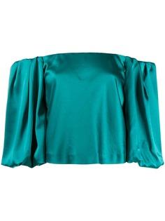 Pinko блузка с открытыми плечами и объемными рукавами