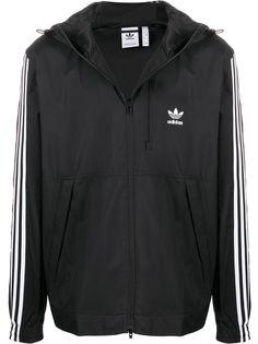 adidas спортивная куртка с контрастными полосками
