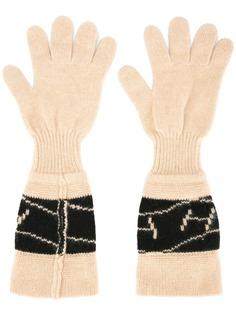 Hermès перчатки с логотипом Hermès