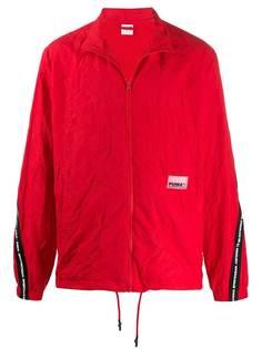 Puma куртка с жатым эффектом и логотипом