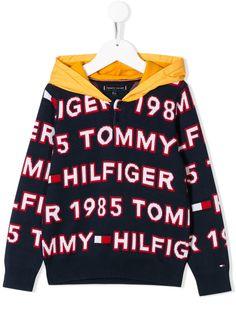 Tommy Hilfiger Junior худи с длинными рукавами и логотипом