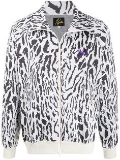 Needles жаккардовая куртка с леопардовым узором