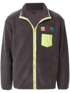 CLOT куртка на молнии с нашивками