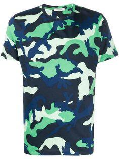 Valentino футболка с камуфляжным принтом