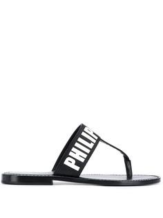 Philipp Plein сандалии TM на плоской подошве