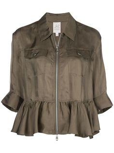 Cinq A Sept куртка-рубашка с оборками