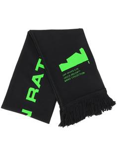 Off-White ARCH SHAPES SCARF BLACK BRILLIANT GREEN