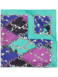 Gucci шарф с узором GG Rhombus